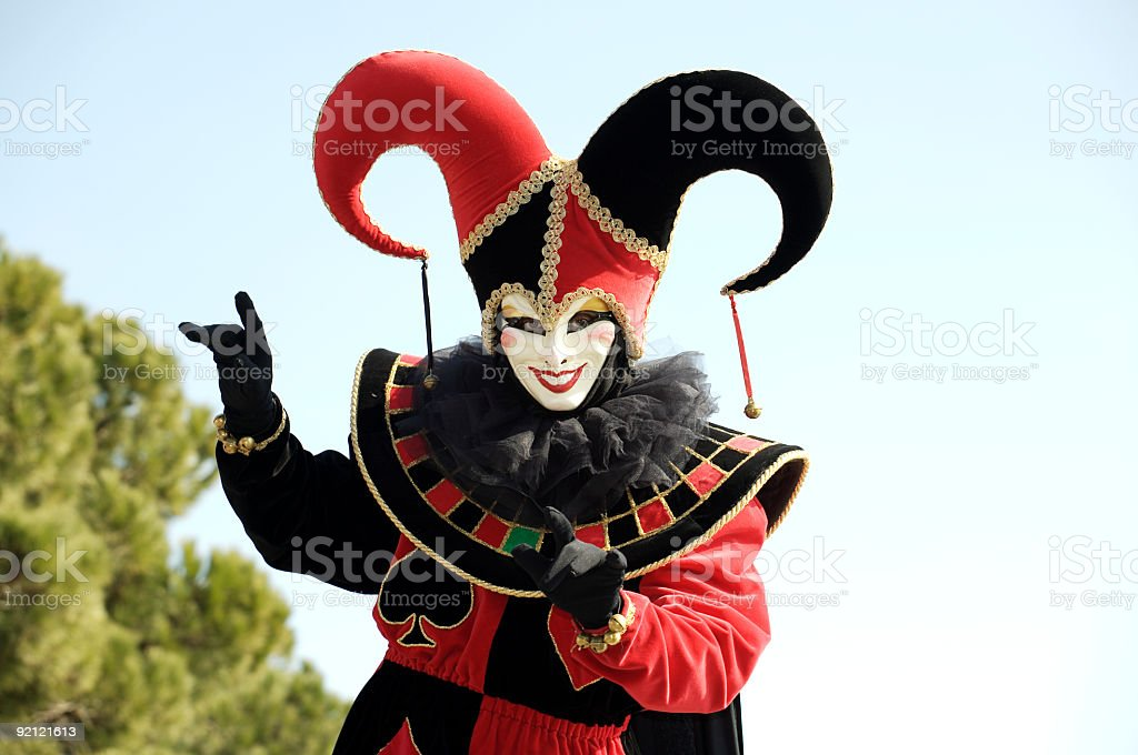 Joker mask stock photo