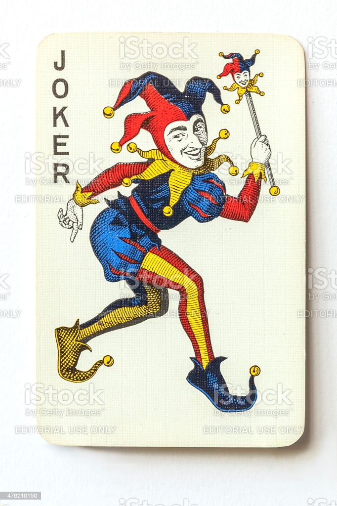 Joker On Vintage Playing Card Stock Photo 476210150 Istock