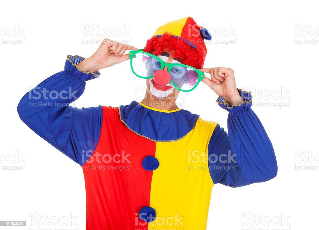 Joker With Big Eyeglasses stock photo