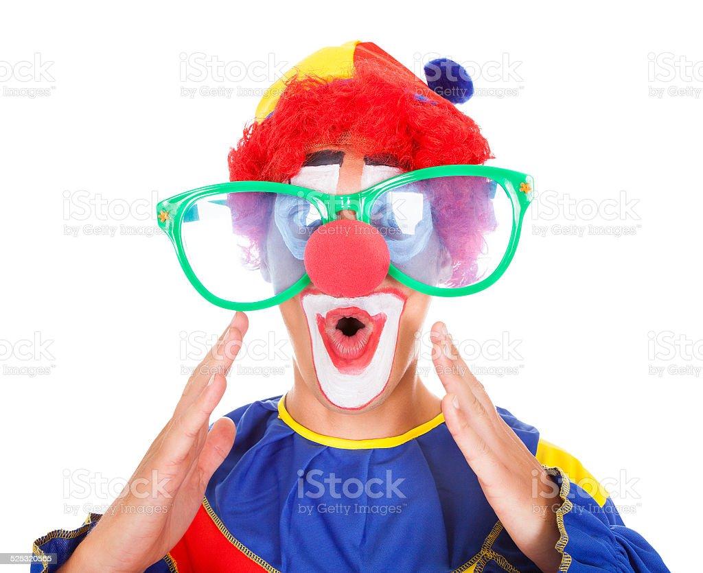Joker With Funny Eyeglasses stock photo