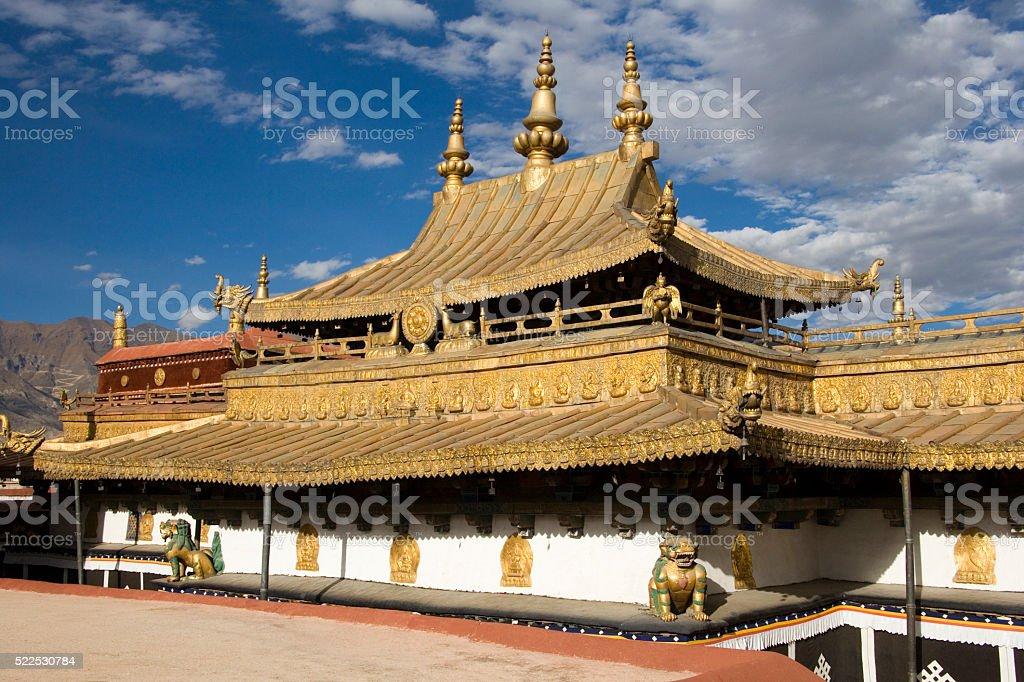 Jokhang Buddhist Temple - Lhasa -Tibet stock photo