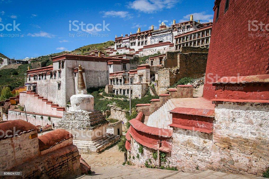 Jokhang monastery nearLhasa stock photo