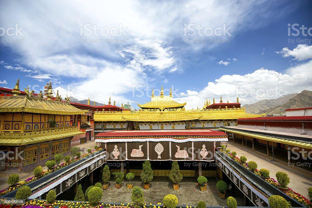 Jokhang monastery stock photo