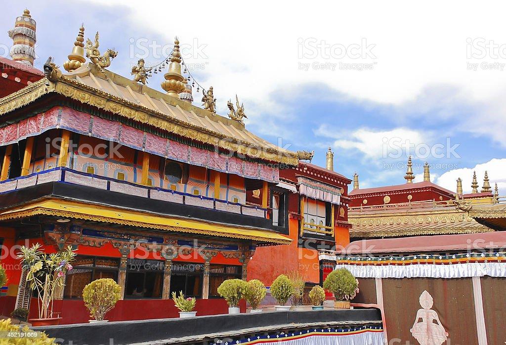Jokhang temple stock photo