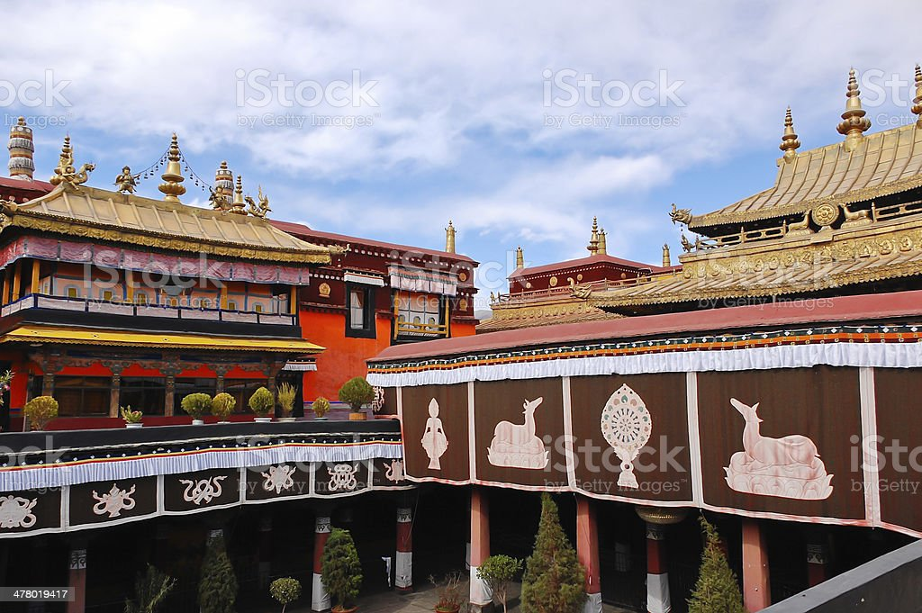 Jokhang temple royalty-free stock photo