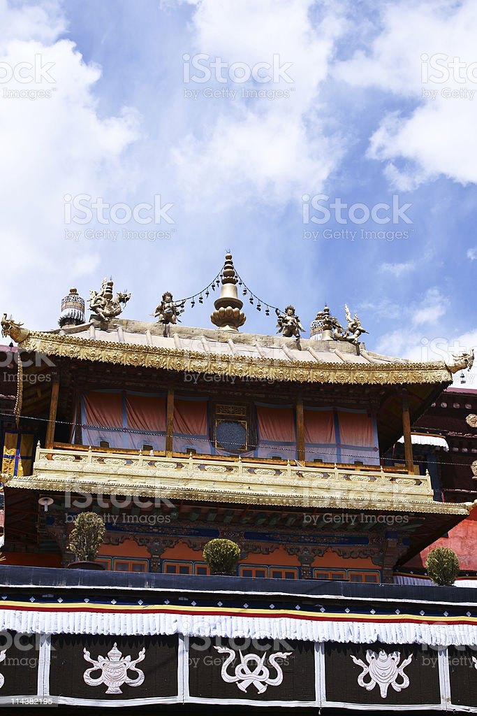 Jokhang temple, Tibet royalty-free stock photo