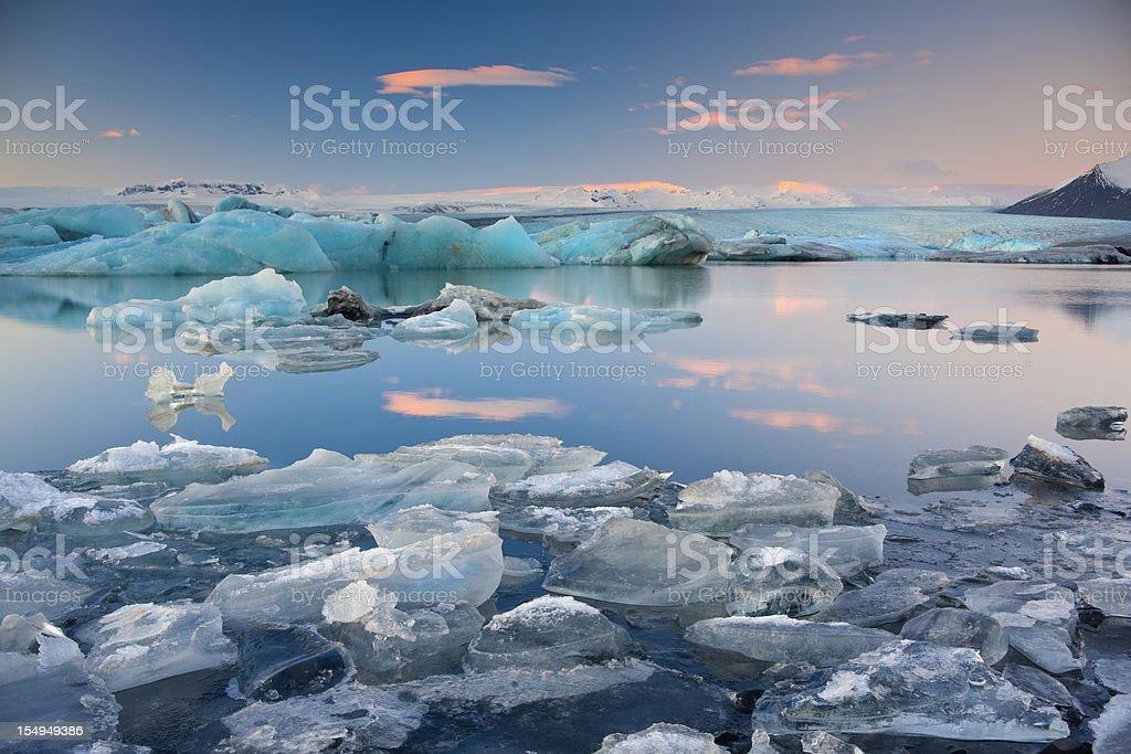 Jokulsalon Glacial lagoon stock photo