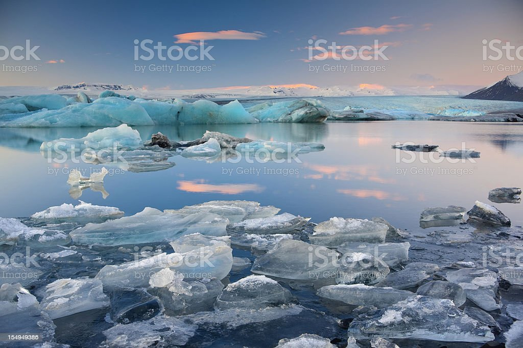 Jokulsalon Glacial lagoon stock photo