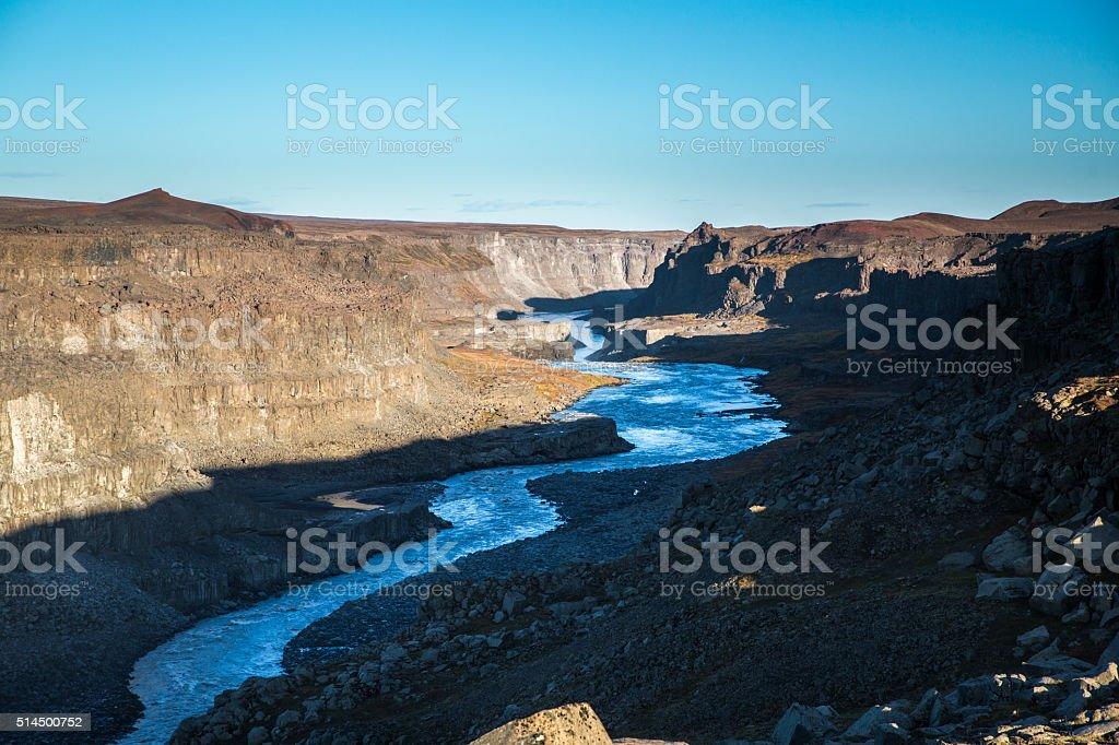Jokulsargljufur Canyon in Iceland stock photo
