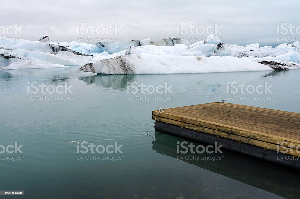 Jokulsarlon Glacial Lagoon royalty-free stock photo