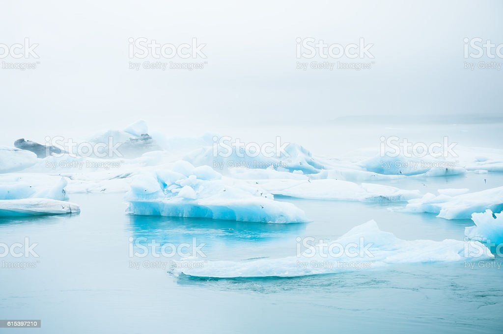 Jokulsarlon glacial lagoon, South Iceland stock photo