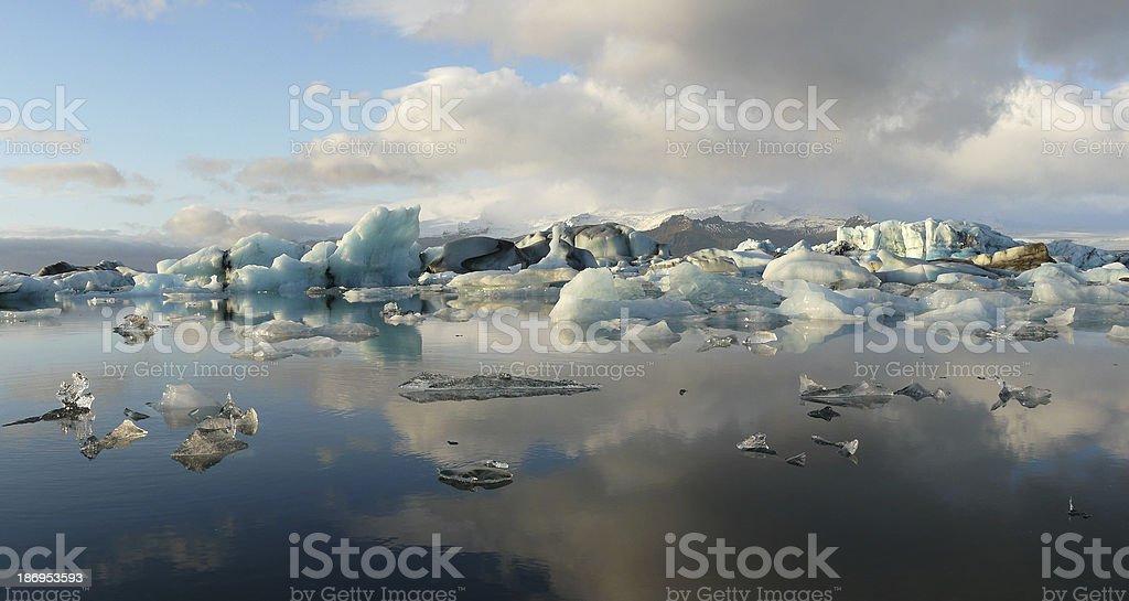 Jokulsarlon, glacier lagoon royalty-free stock photo