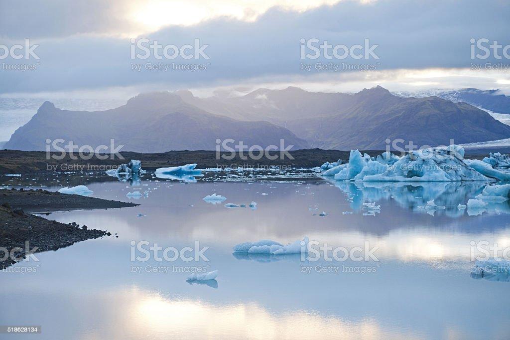 Jokulsarlon Ice Lagoon stock photo