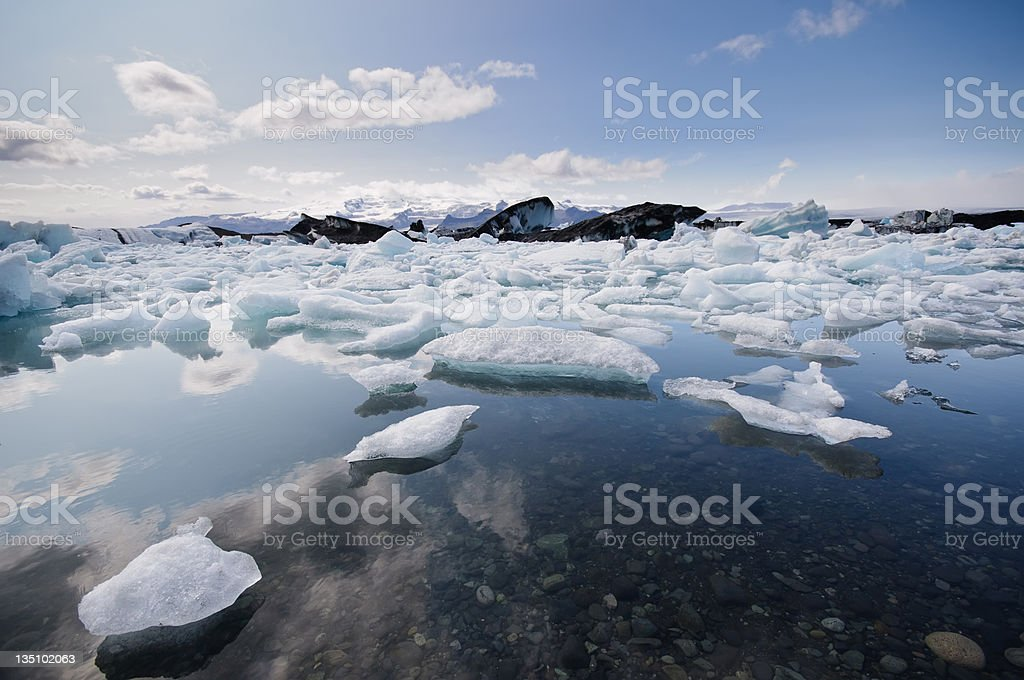 Jokulsarlon Lagoon Iceberg Iceland stock photo