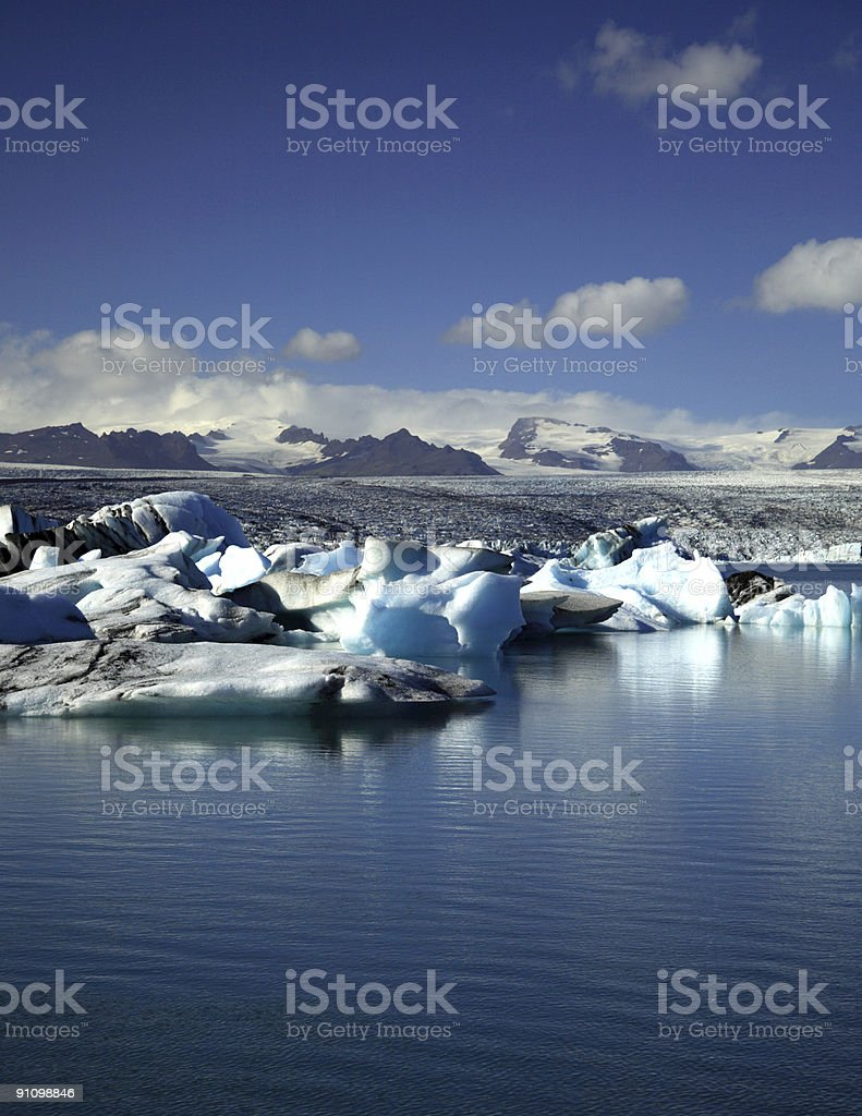 Jokulsarlon lagoon stock photo