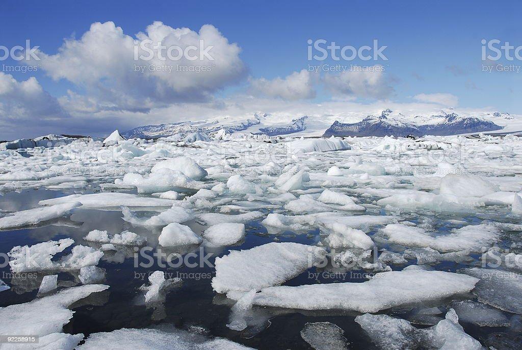 Jokulsarlon lagoon royalty-free stock photo