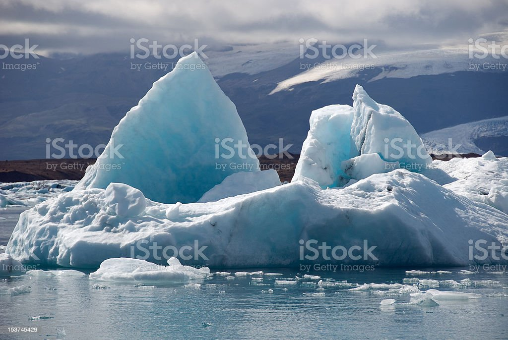 Jokulsarlon lake in Iceland stock photo