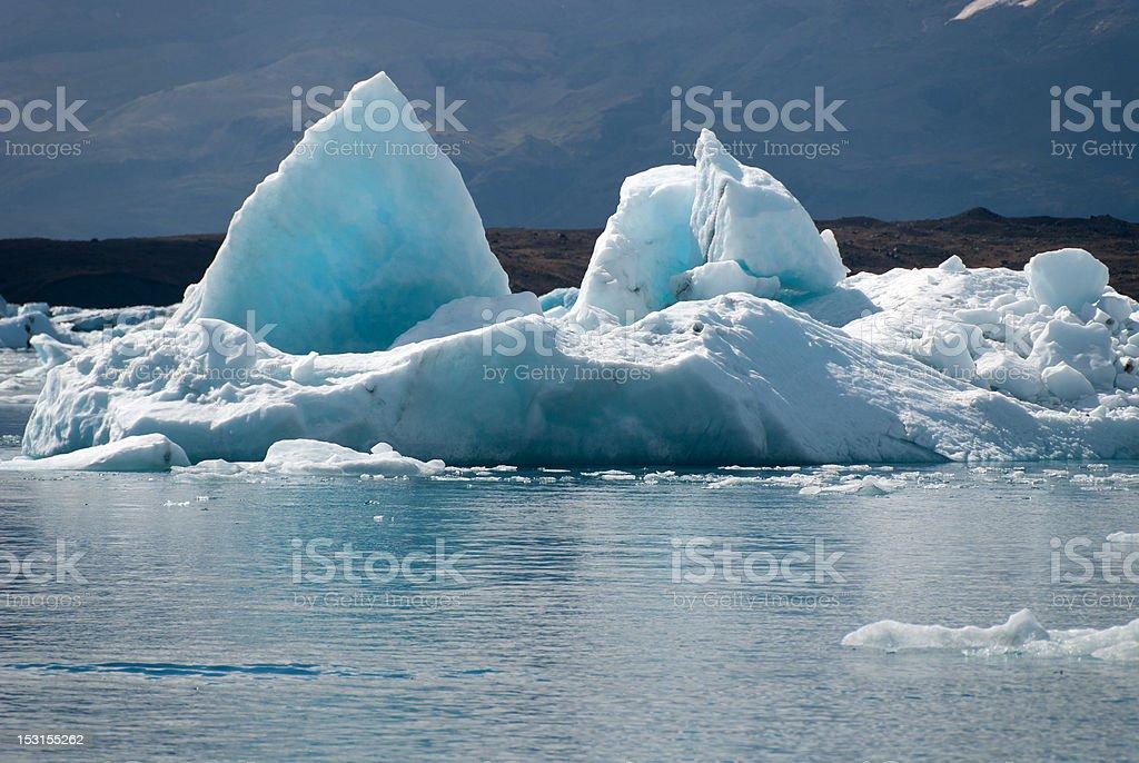 Jokulsarlon lake stock photo