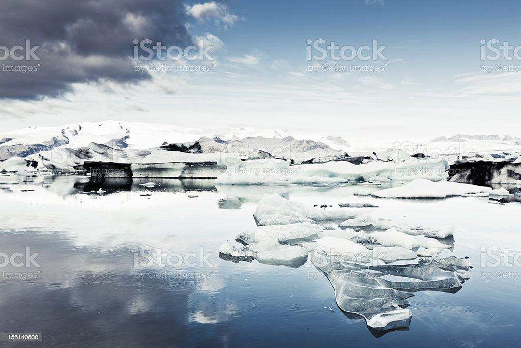 Jokulsarlon Vatnajokull Glacier Iceland royalty-free stock photo