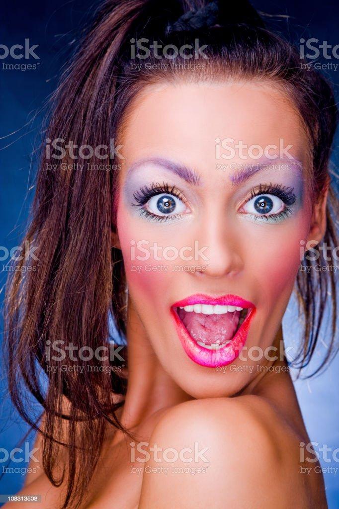 Jolly girl stock photo