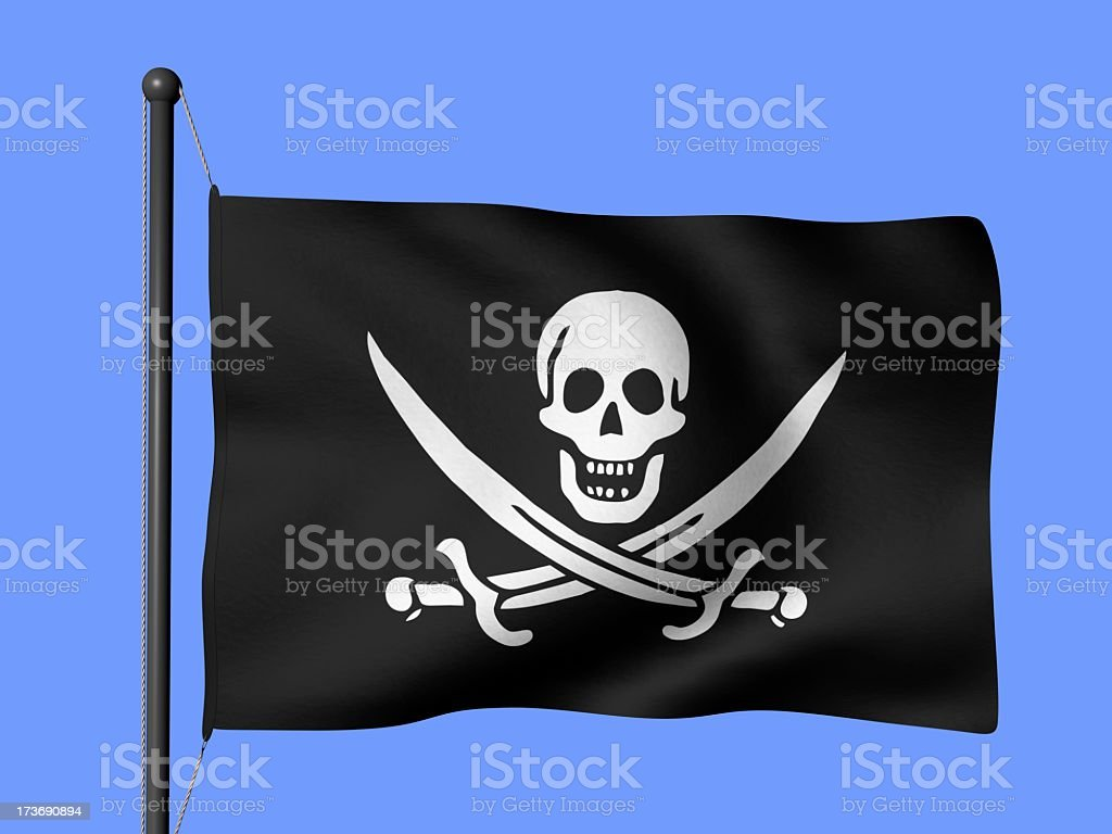 Jolly Roger - flags of the world stock photo