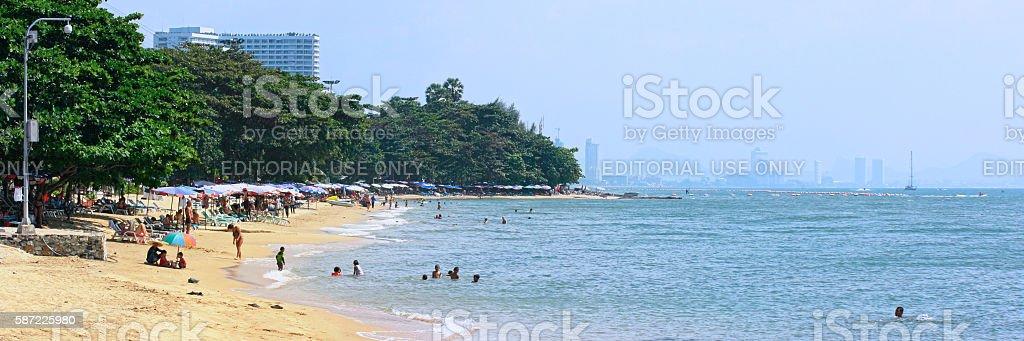 Jomtien Beach in Thailand stock photo