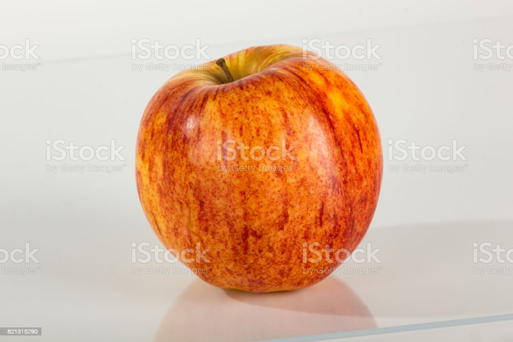 Jonagold Apple on Plain White stock photo