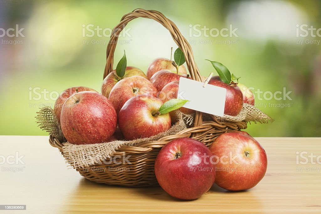 Jonagold Apples in a Basket royalty-free stock photo