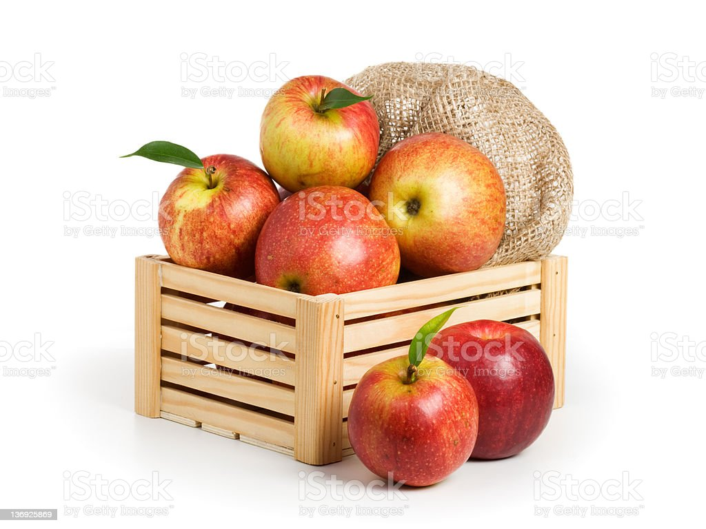 Jonagold Apples in a Crate stock photo