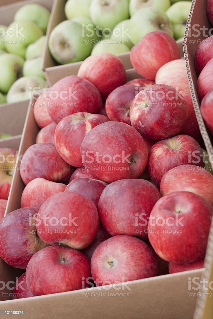 Jonathan Apples for Sale at a Farmer's Market stock photo