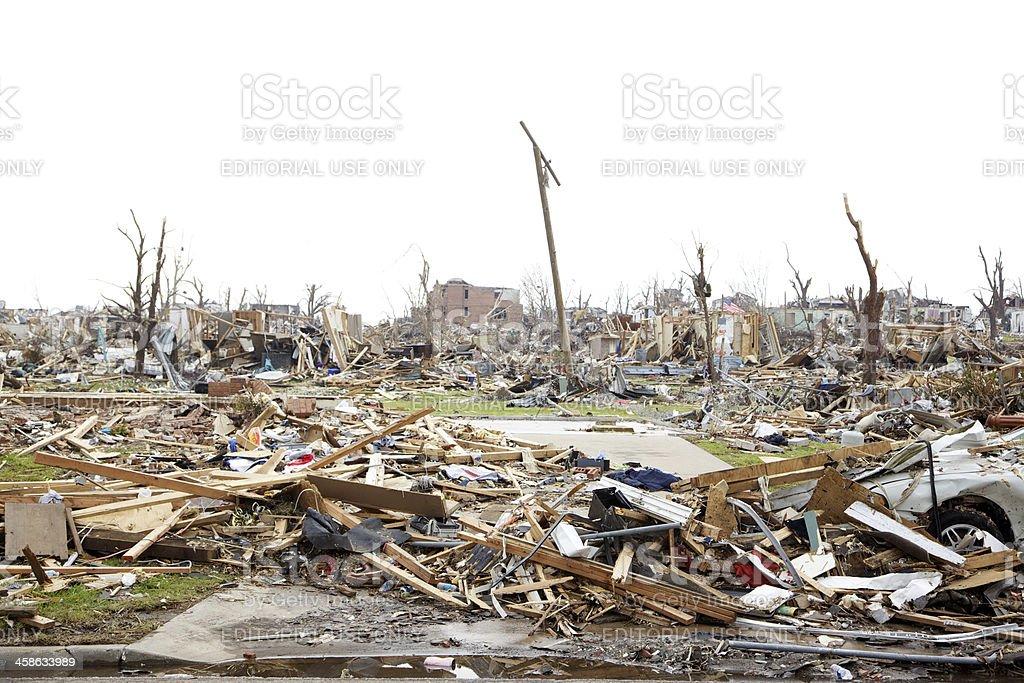 Joplin Missouri deadly F5 Tornado debris stock photo