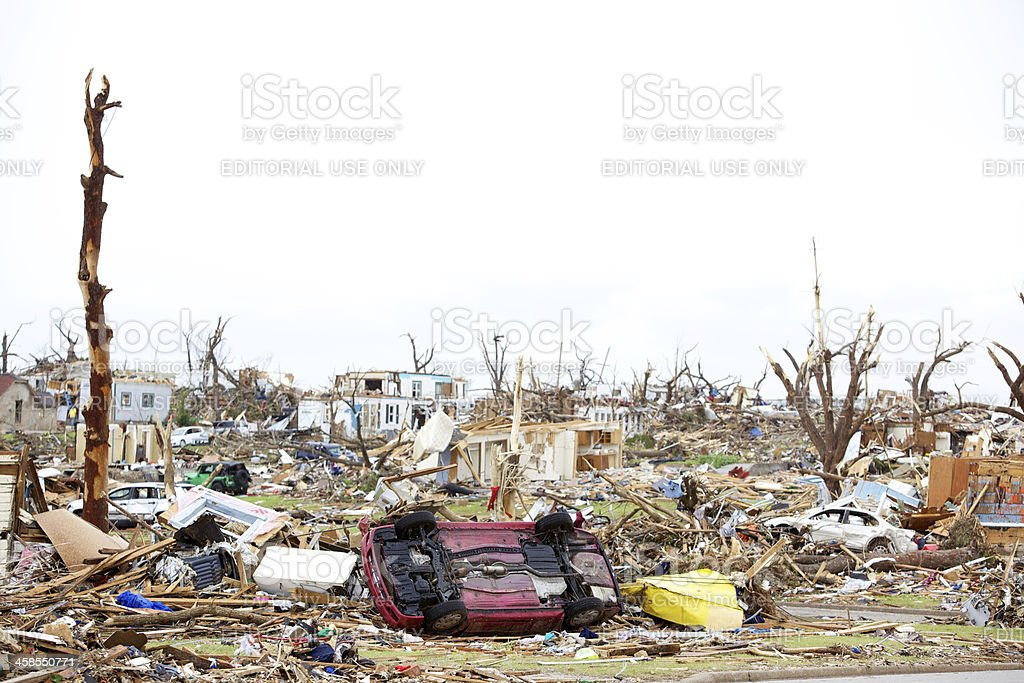 Joplin Missouri deadly F5 Tornado debris scattered royalty-free stock photo