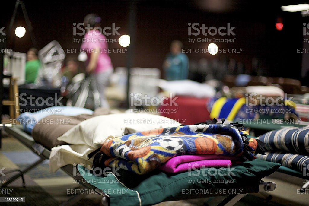 Joplin Missouri deadly F5 Tornado homeless shelther stock photo