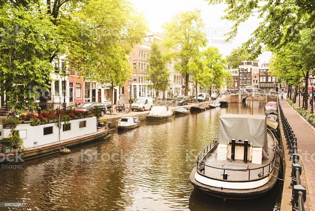 Jordaan quartier in Amsterdam stock photo