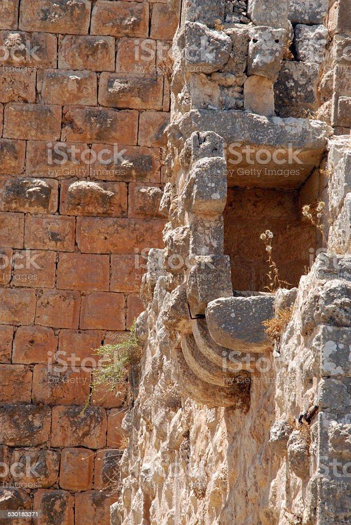 Jordan: Ajlun castle stock photo