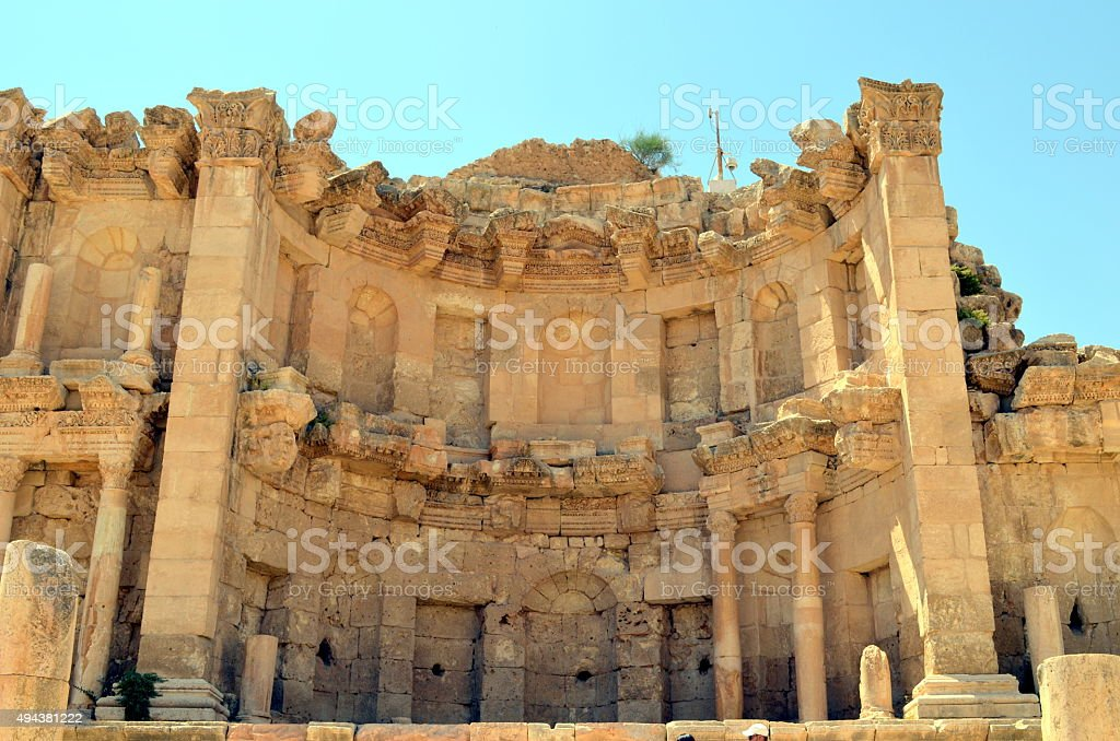 Jordan architecture jerash - roman temple stock photo