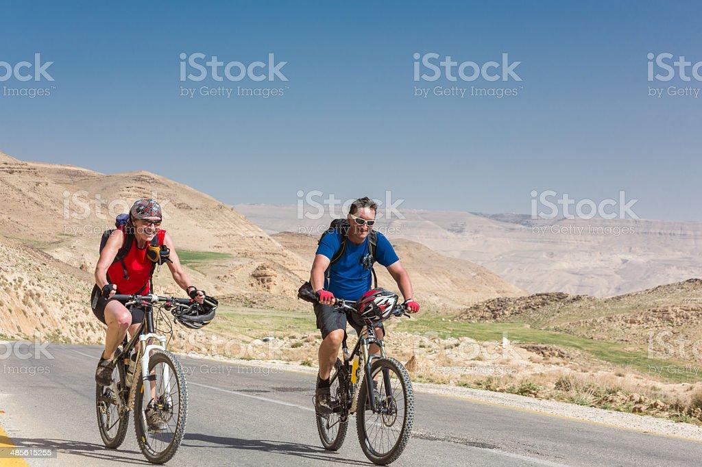 Jordan cycling fun royalty-free stock photo