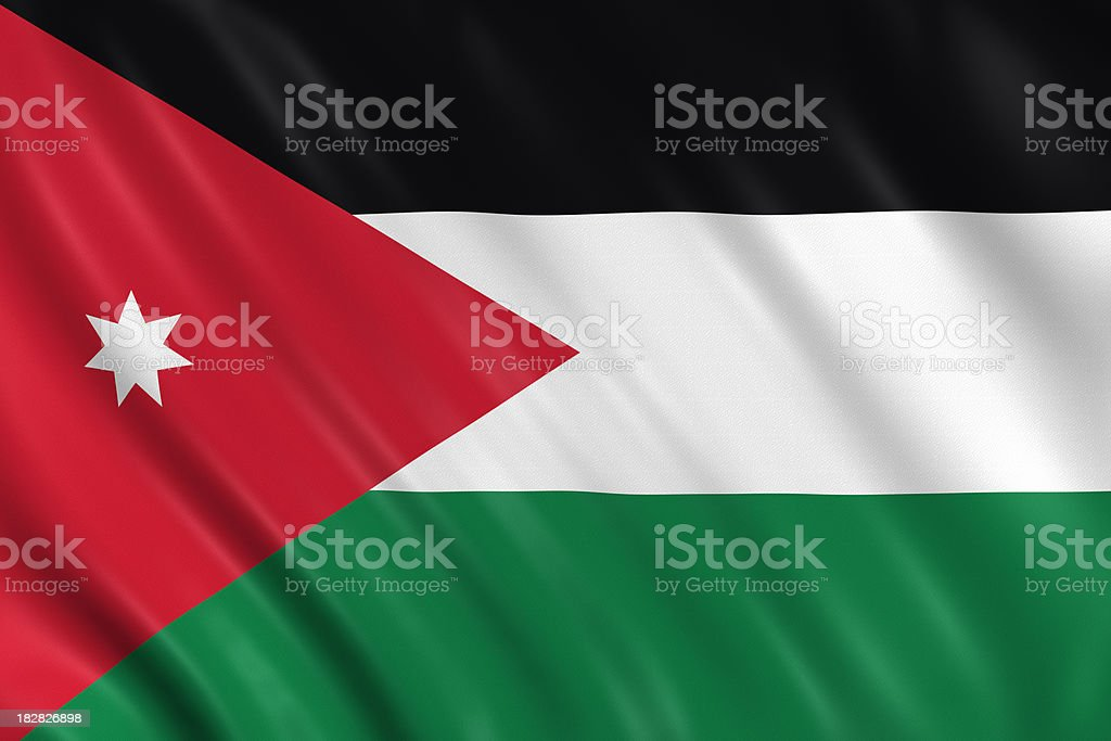 jordan flag royalty-free stock photo
