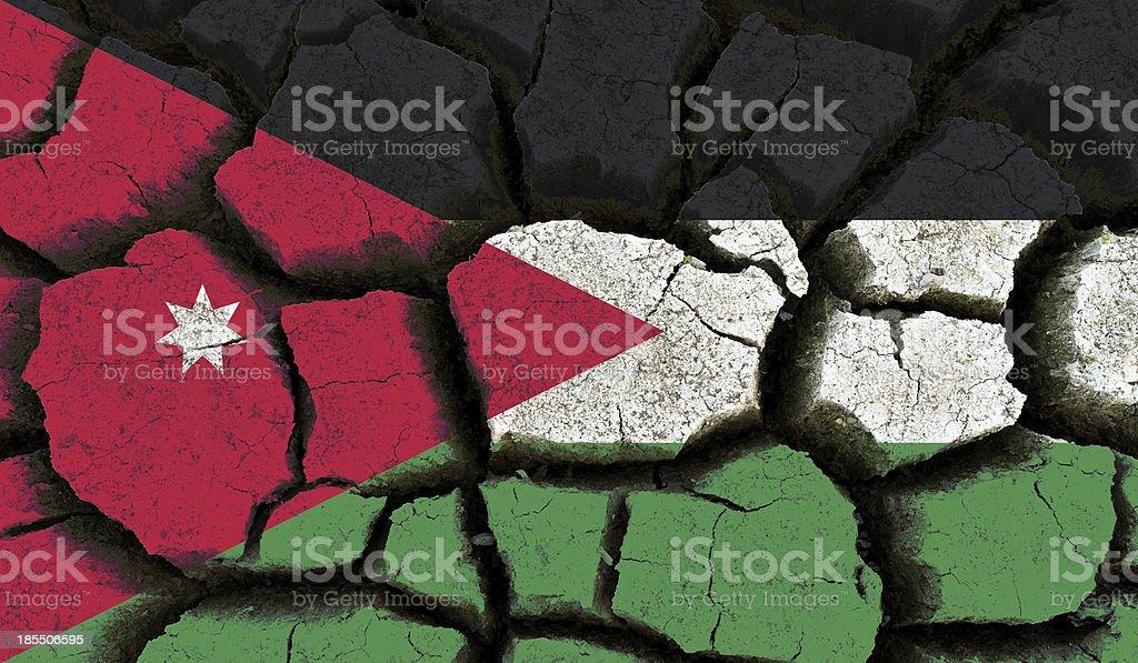 Jordan flag. royalty-free stock photo