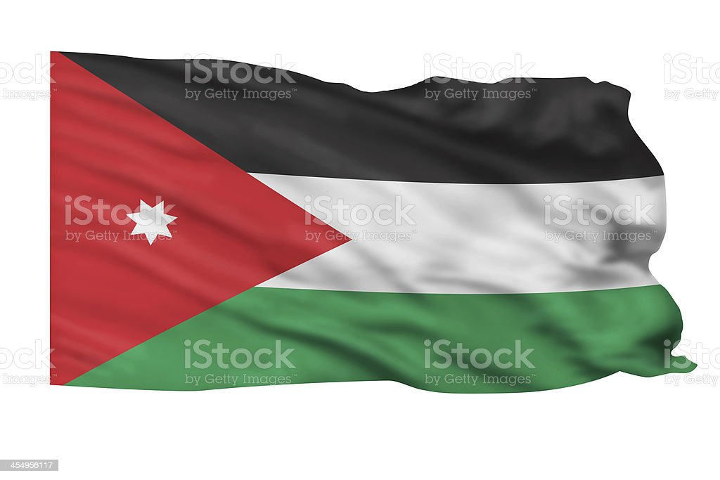 Jordan Flag. stock photo
