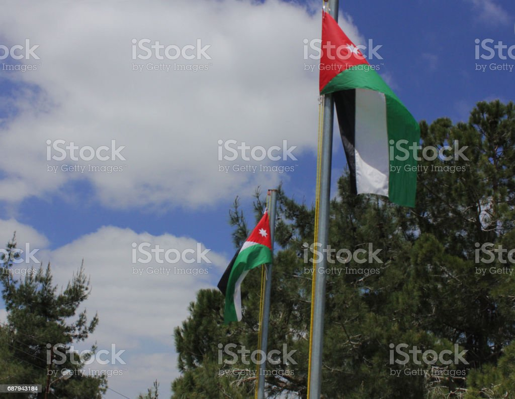 jordan flag stock photo