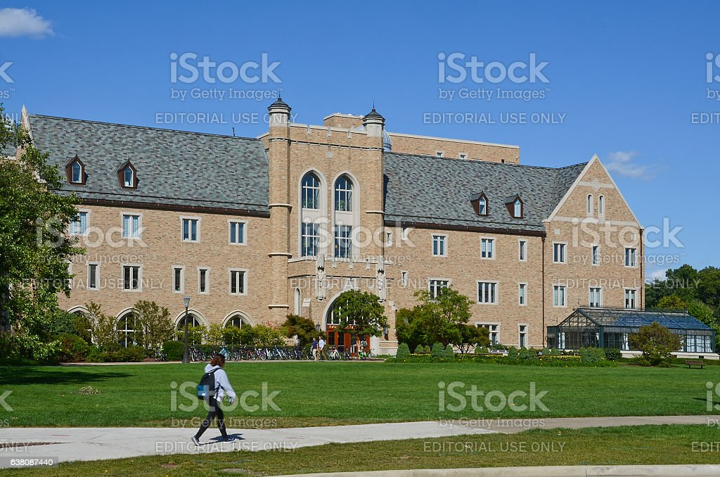 Jordan Hall of Science at University of Notre Dame stock photo