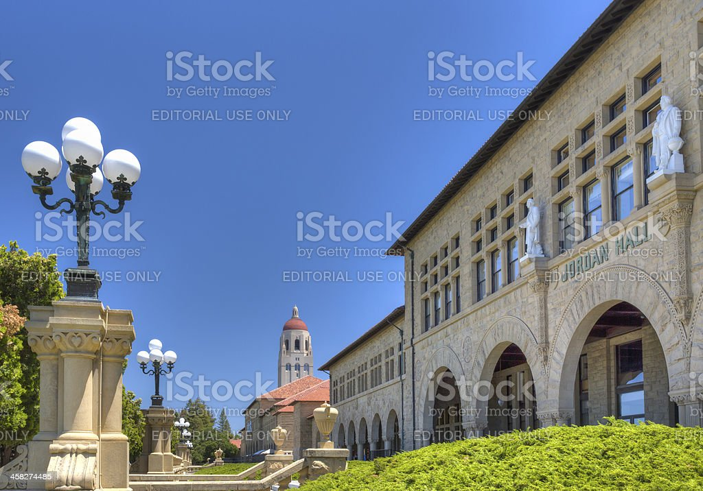 Jordan Hall on the Campus of Stanford University. stock photo