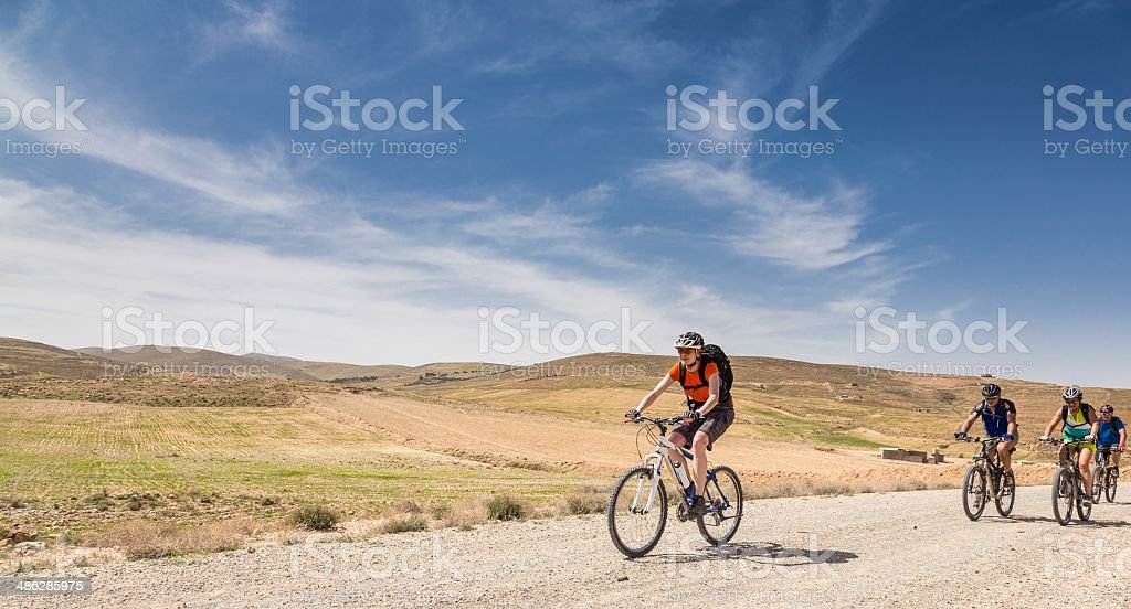 Jordan highland mountainbiking royalty-free stock photo