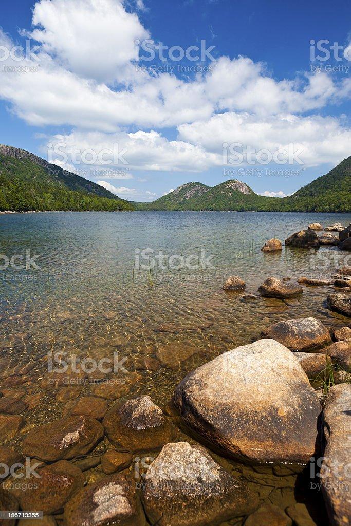 Jordan Pond, Acadia National Park, Maine stock photo