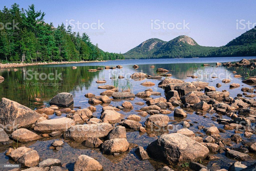 Jordan Pond, Acadia National Park stock photo