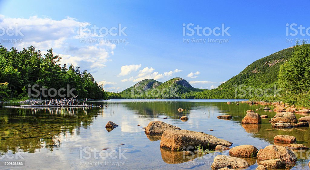 jordan pond acadia national park stock photo