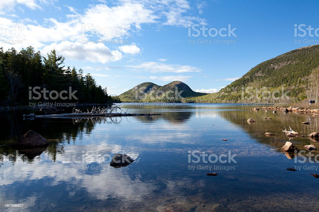 Jordan pond in Acadia National Park at Maine stock photo