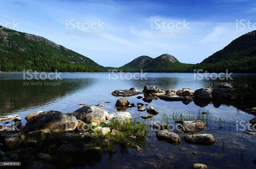 Jordan Pond in Acadia National Park, Maine stock photo