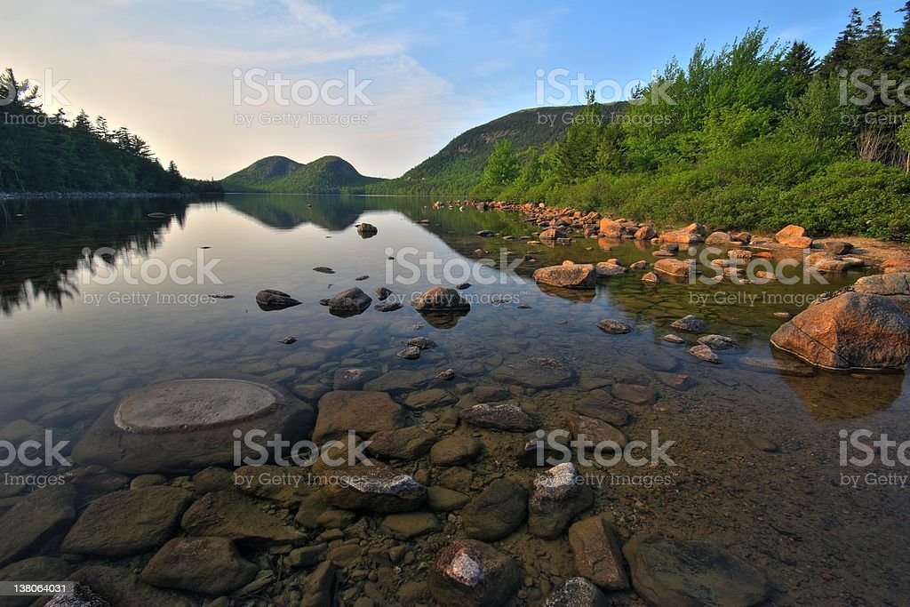 Jordan Pond stock photo